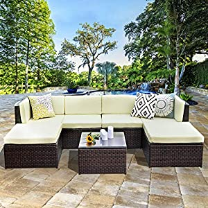 61O6tcefvAL._SS300_ Wicker Sectional Sofas & Rattan Sectional Sofas