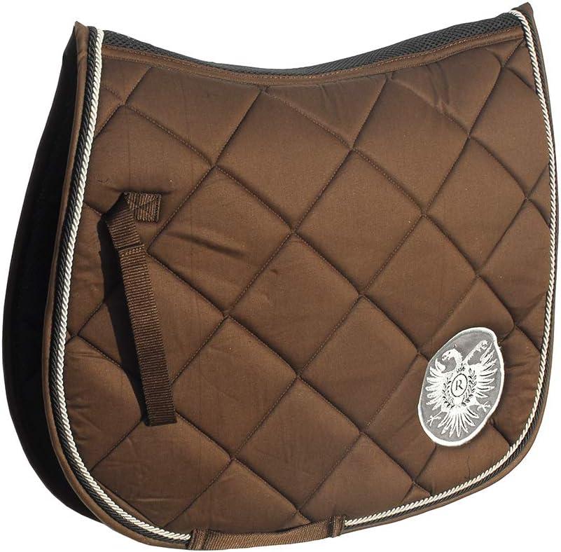 Rhinegold Almohadilla Cuadrada de algodón para sillín de Caballos con ventilación de Lomo, Gran Idea de Regalo (Color marrón), Color marrón