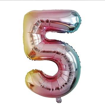Ogquaton Números de globos 32 pulgadas Números de globos de ...