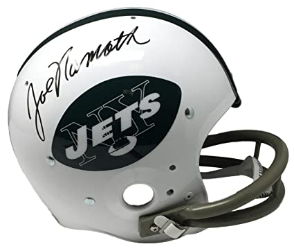 fe09ea7131f Joe Namath Signed New York Jets Full Size Replica TK Suspension Helmet JSA  ITP