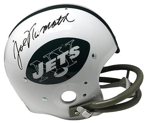 Amazon.com  Joe Namath Signed New York Jets Full Size Replica TK Suspension  Helmet JSA ITP  Sports Collectibles 263ab1cfd