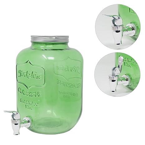 Druline 4L 5L 8L dispensador de Bebidas dispensador de Agua dispensador de Zumo Jarra Cristal Grifo
