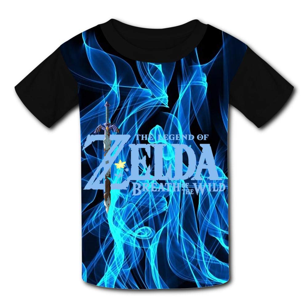 The Le-gend of Zel-da Wild Flower Unisex Kids T-Shirts 3D Printed Fashion Youth T Shirt Tees for Boys Girls