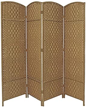BlueBoxInnovations 4 Panel Entwine Handmade Natural Coloured Room