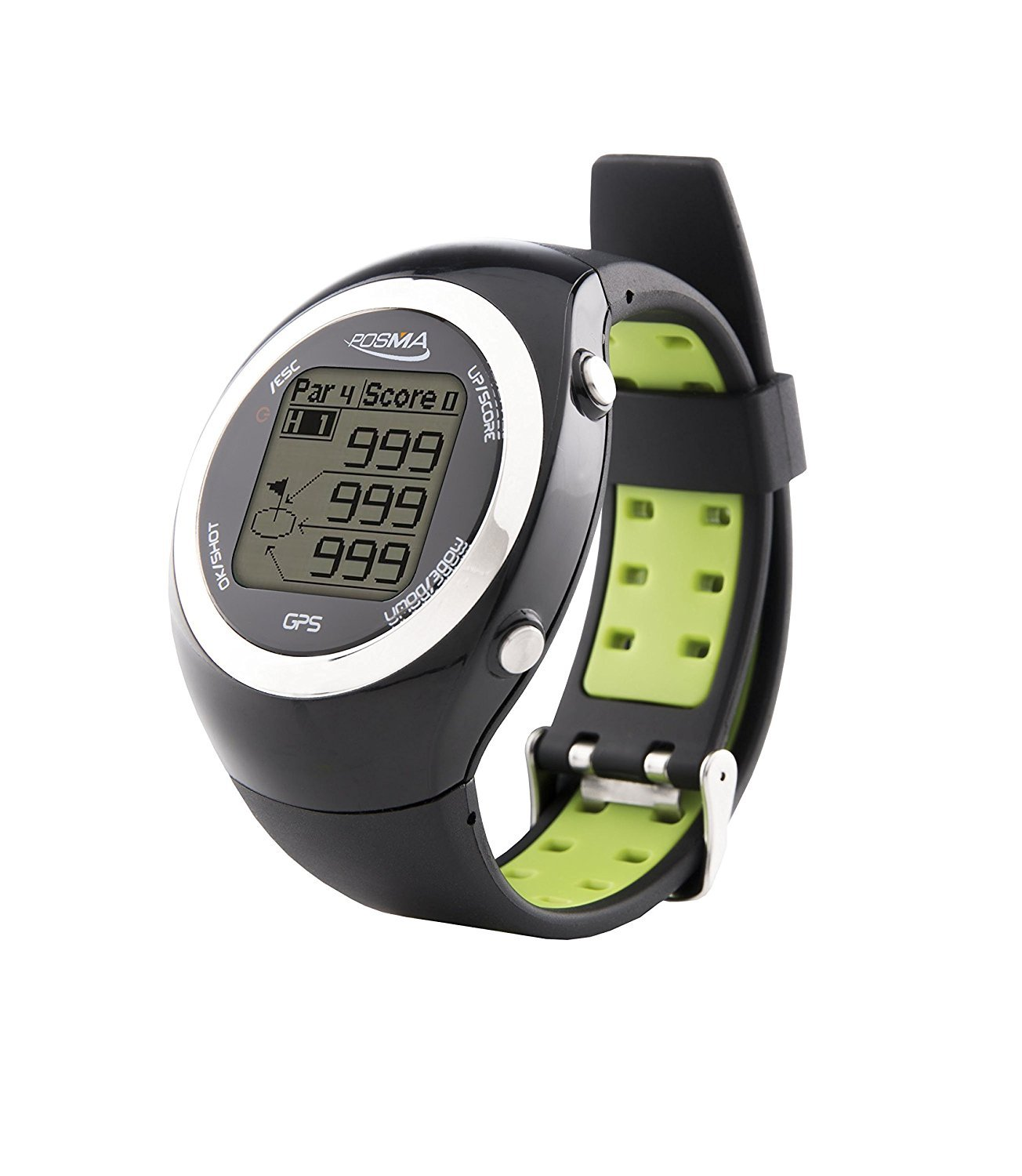IDS Home POSMA GT2 Golf Trainer + Activity Tracking GPS Golf Watch Range Finder, Preloaded Golf Courses, Global Courses - Green