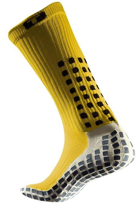 Trusox CRWC-Yel Calcetines Cortos con Acolchado, Hombre, Amarillo/Negro, L