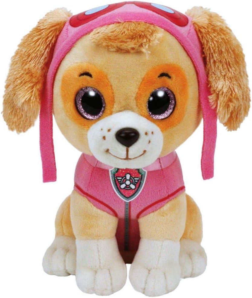 PAW PATROL Selección Figuras de Peluche con Ojos Brillantes | 24 cm | Patrulla Canina, Figura:Skye