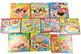 Assorted 5 Random Boxes Bundle Kracie Popin' Cookin' DIY Gummy Candy Making Kit Sushi, Hamburger, Bento, Pizza
