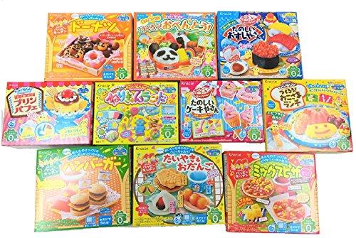 Assorted 5 Random Boxes Bundle Kracie Popin' Cookin' DIY Gummy Candy Making Kit Sushi, Hamburger, Bento, Pizza