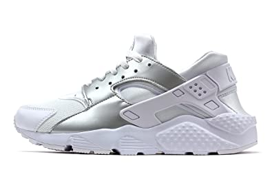 official photos 3755e 40a83 Nike Huarache Run Junior Mädchen Schuhe - weißSilber Metallic, UK 6, EUR