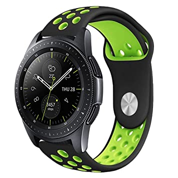 Leafboat Compatible Correa Samsung Galaxy Watch 46mm,Correa de Silicona con Correa de Repuesto con pasadores de liberación rápida Mira Pulsera Samsung ...