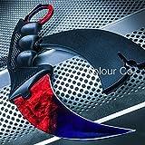 CSGO Karambit Hawkbill Talon Soul Full Tang Fixed Blade Neck Knife w/ABS Sheath (Limited Edition) (Dragon Fade) For Sale
