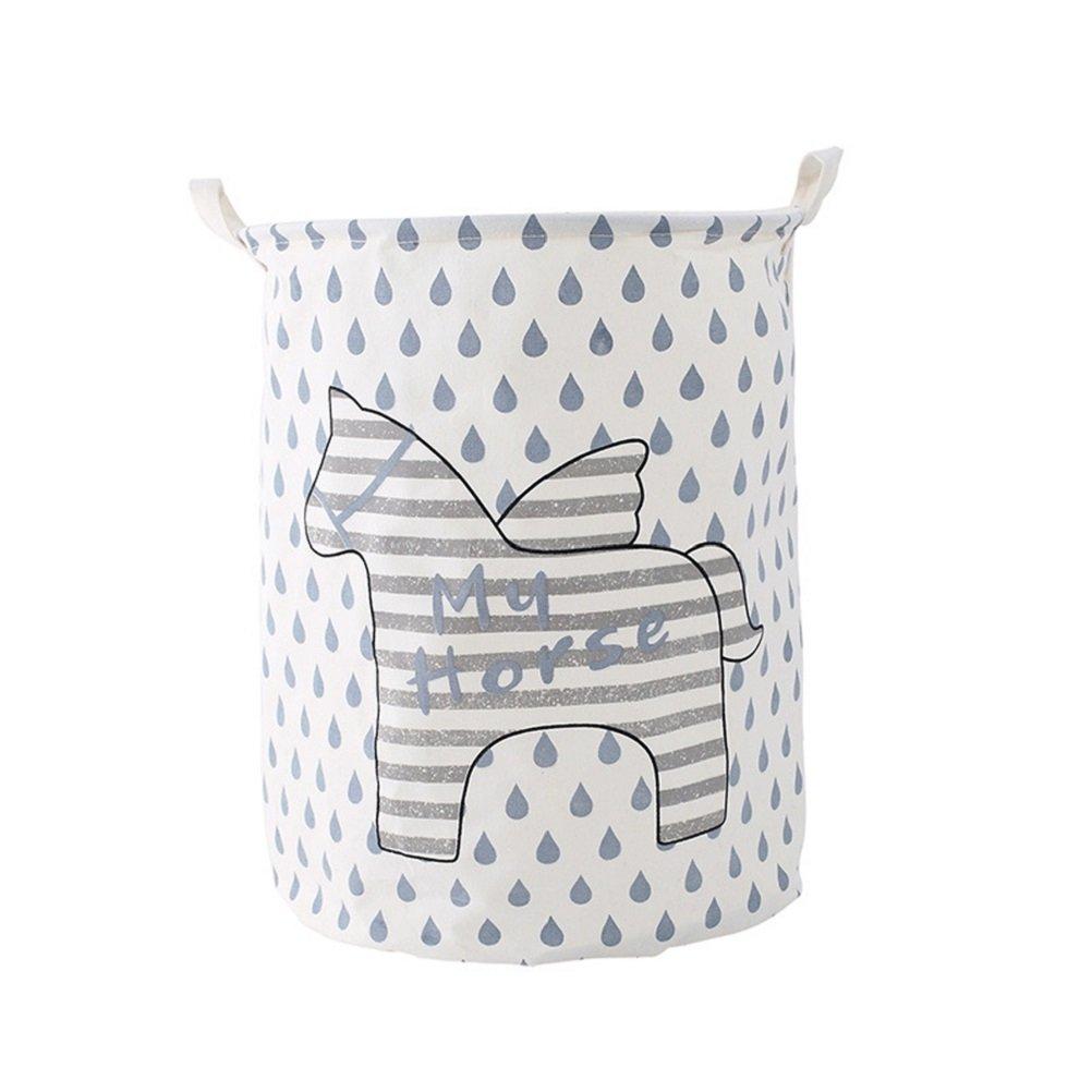 tshome Cartoon Horse plegable tela para ropa sucia cesta de la colada grande juguetes ropa de almacenamiento organizador soporte