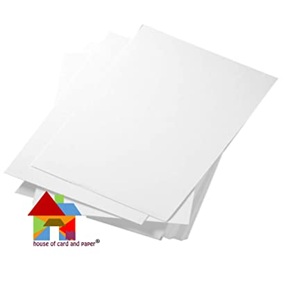 White Pack of 100 Sheets House of Card  Paper A4 220 gsm Card