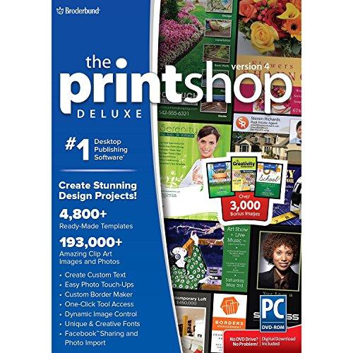 The Print Shop Deluxe 4.0 w/ Bonus Home & Garden, School, Creativity Collections