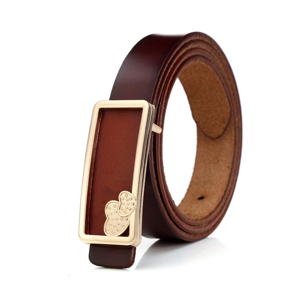 Simple Retro Lady Belt//Ms Fashion Decorative Belt//Female Leather Wild Cowboy Belt