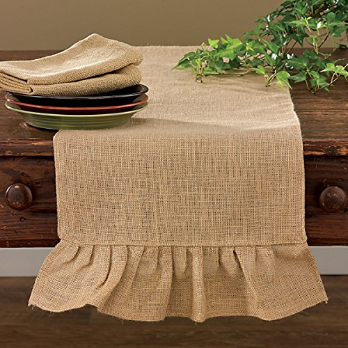 Shabby Country Jute Burlap Table Runner Kitchen Home