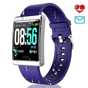 CatShin Smartwatch Pulsera Actividad-CS09 Impermeable IP67 Reloj Inteligente por Hombre Mujer con Pulsómetro Monitor de Ritmo Cardíaco Podómetro ...