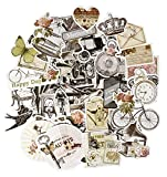 FaCraft Scrapbook Ephemera Vintage Scrapbooking Supplies Embellishments Die-Cut Pack ,Old-Time and Happy Day,50 Pieces Assorted Designs