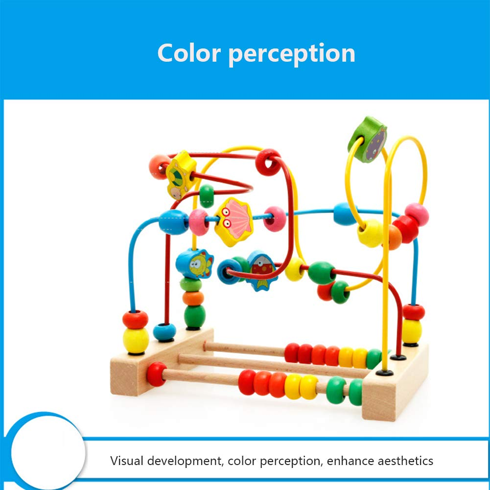 6 Months Baby Balls Maze Toys Multi-Function Toys ChildrenS Gifts Children Early Childhood Education Bead Maze. Wooden Maze Toy Sets ChildrenS Puzzle Round Beads DASGF Bead Maze