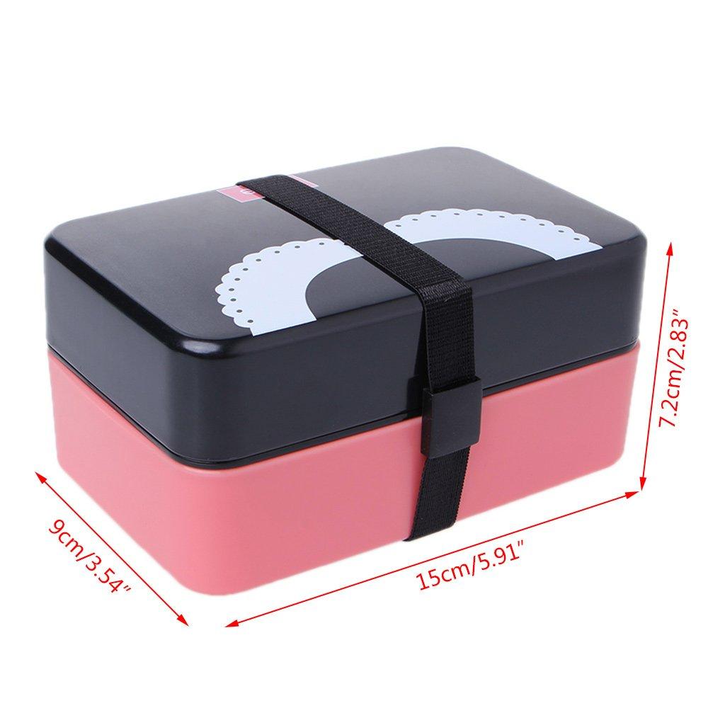 Runrain - Mini Caja de Almacenamiento portátil de 2 Capas ...