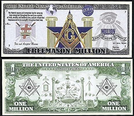 Amazon Freemason Symbols Million Dollar Bill Masonic Square