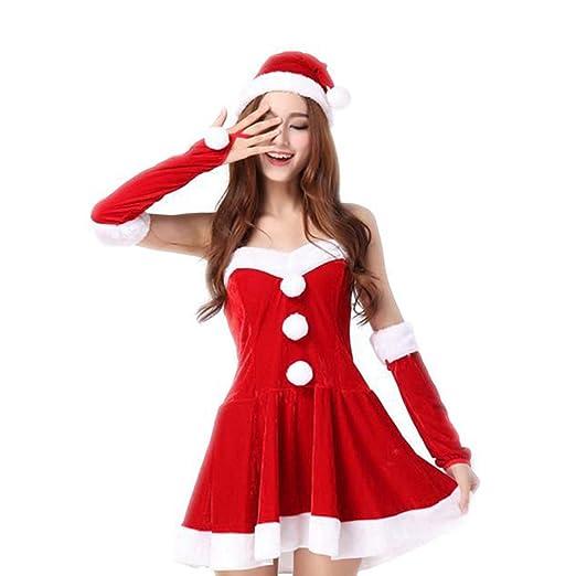 VANSOON Womens Christmas Dresses Ladies Santa Costume Cute Party Fancy Two  Parts Dress Cosplay Suit Mini - Amazon.com: VANSOON Womens Christmas Dresses Ladies Santa Costume