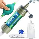RUNACC - Filtro de Agua con Bomba de Bola para Beber rápidamente y Voltear, diseño Integrado, Mini purificador de Agua con Alta Capacidad, preparación de Emergencia