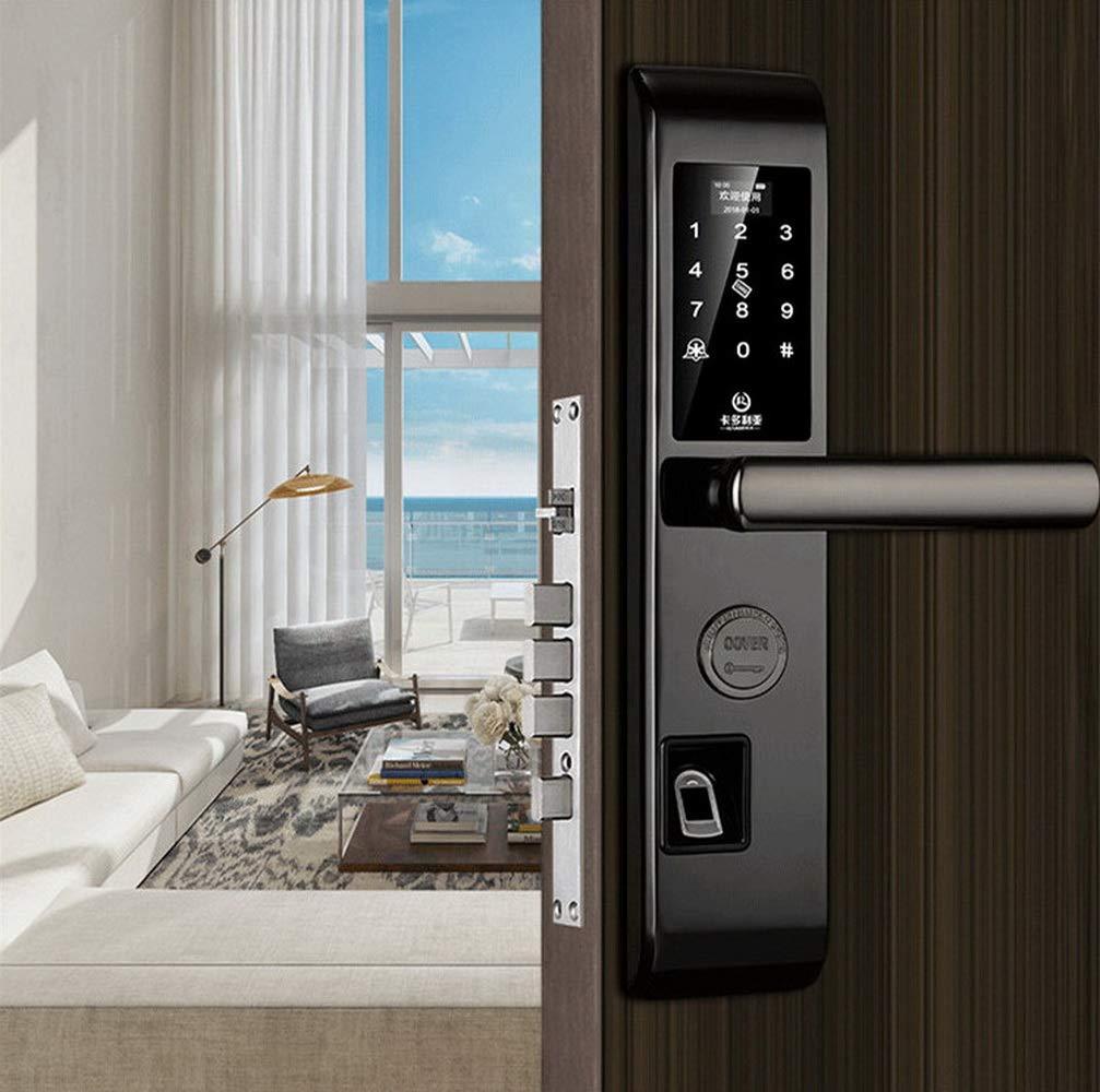 RFID Zutrittskontrolle Elektronisch LCD Touchscreen Smart Lock Security WAZA Codeschloss T/ür/öffner Fingerabdruck