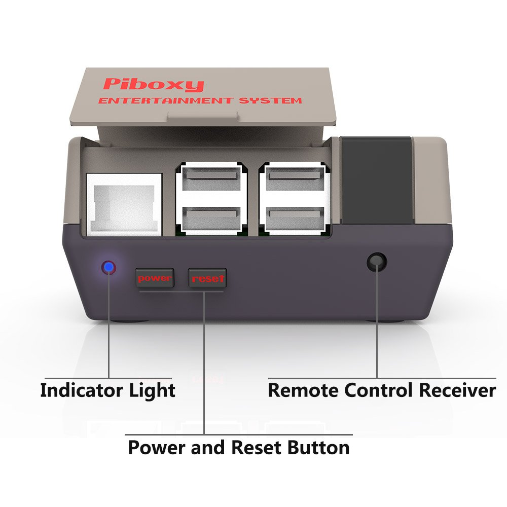 NESPI Case, Piboxy Nes Case With Functional POWER and RESET Button, Safe Shutdown, IR Remote Controller, Raspberry Pi Fan for Raspberry Pi 3 Model B, Pi 2 Model B (Piboxy with Fan) by iUniker (Image #3)