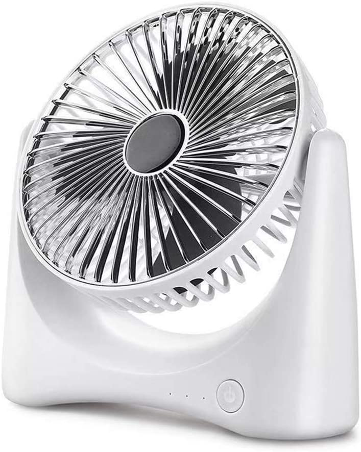 QLIGHA Mini Ventilador eléctrico Carga USB Silencioso Portátil Ventilador Espiral Aspa Home Office Desktop Ventilador de circulación de Aire