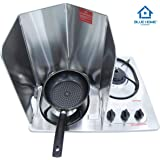 Splatter Guard for Cooking - Grease Splatter Screen - 4 Sided Splatter Guard Compact Type - Stainless Steel - Unfold 33.26 in
