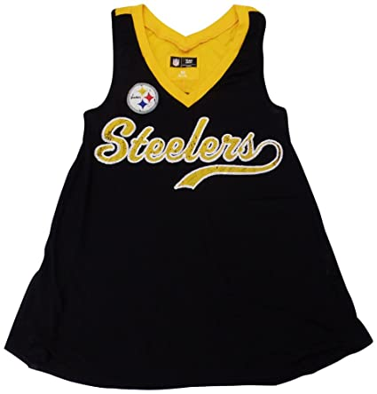 6a27d2ca6 Amazon.com   Pittsburgh Steelers Womens Slub Sequined V-Neck Jersey ...