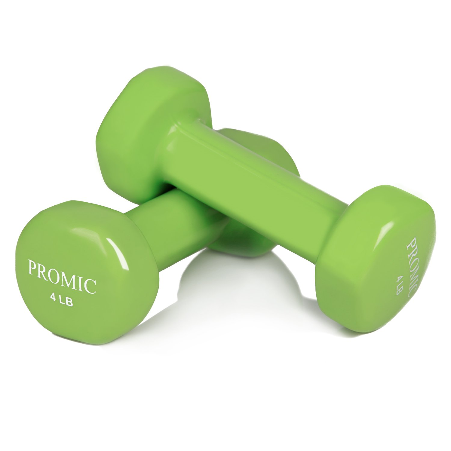 PROMIC 1lb to 20lb Hand Weights Deluxe Vinyl Coated Dumbbells (Sold in Pair) - Non Slip, Multi Colors Available
