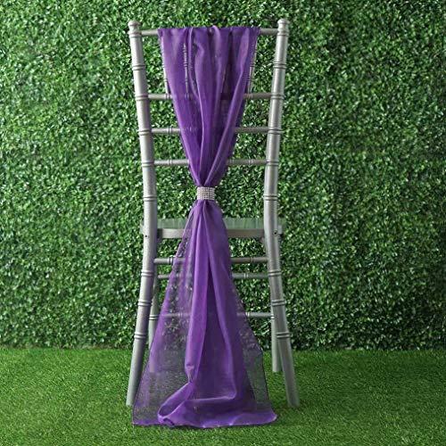 Mikash Extra Wide Premium Chiffon Chair Sashes Bows Ties Wedding Reception Decorations | Model WDDNGDCRTN - 8275 | 50 pcs