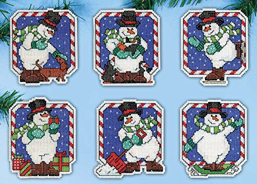 Design Works Count Plastic Canvas Kit ~ CANDY CANE SNOWMEN O