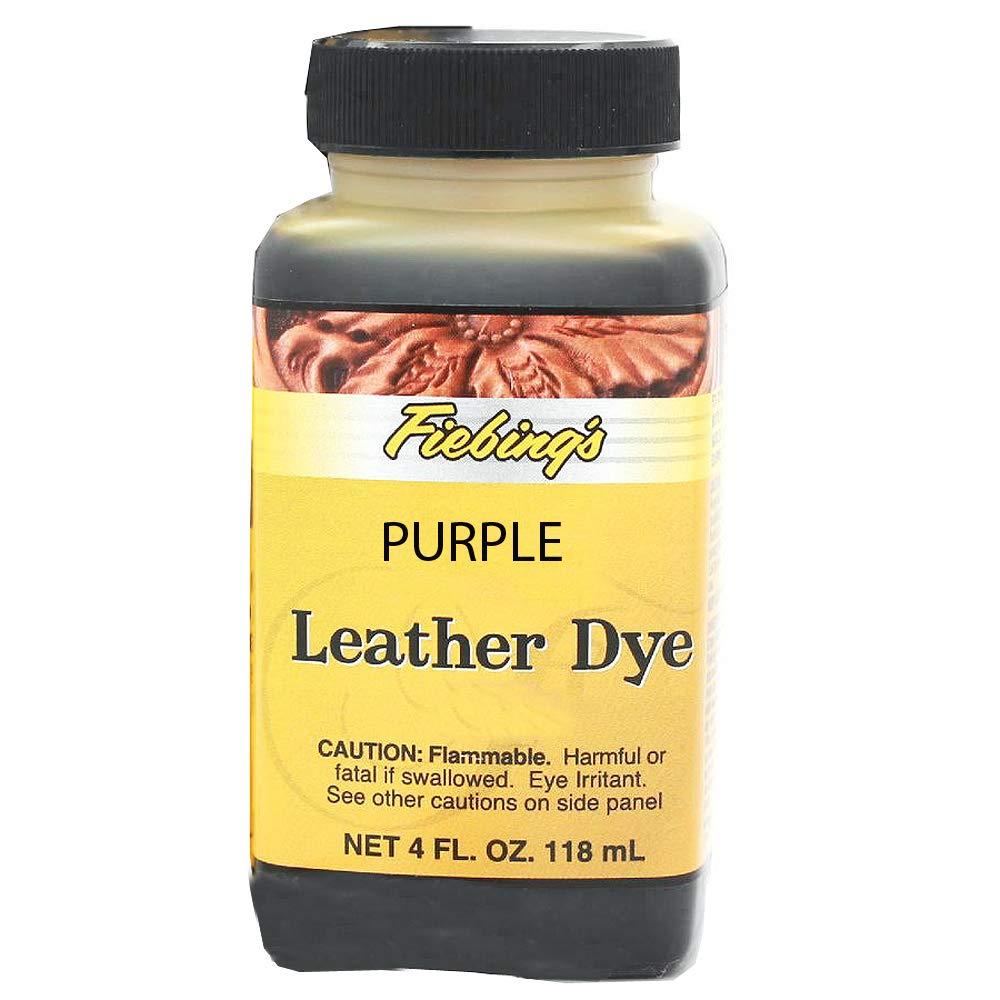 Fiebings Leather Dye 4 Fl. Oz. (118 Ml) - 27 Colors (Purple) Fiebing' s Company 80066-18