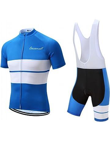 Men s Cycling Jersey Set Road Bike Jersye Short Sleeves Cycling Kits + Bib  Shorts with 3D 77657d019