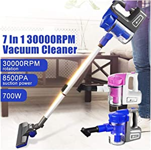 KIKBLW Portable Ultra-Quiet Vacuum, 7 in 1 700W Extension Tube 4 Brushes Vacuum Cleaner Handheld Lightweight Floor Carpets Cleaners Household