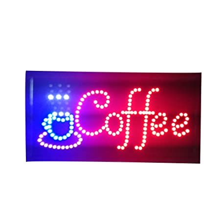 Neon Lights LED Animated Coffee Sign Customers Attractive Sign Store