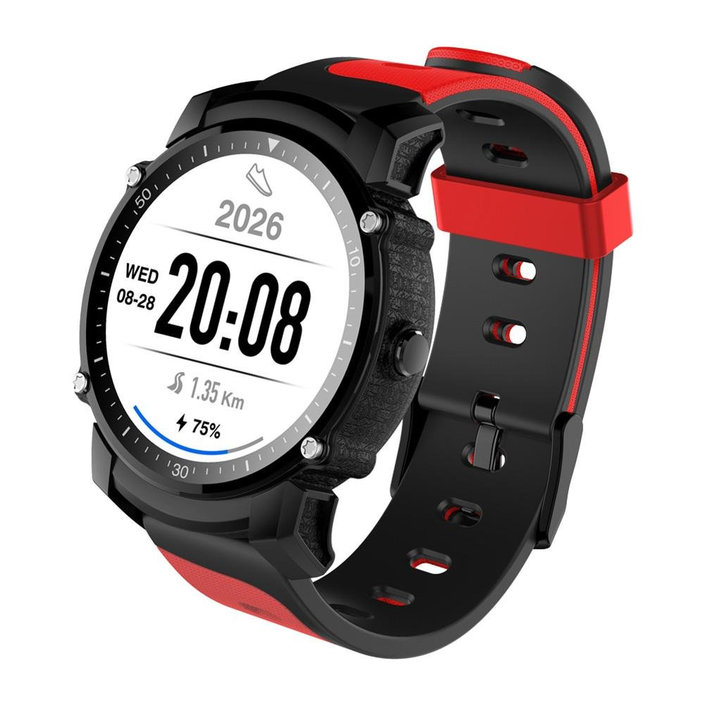Alloet FS08 Bluetooth IP68 Waterproof Swim 1.26 inch GPS Wristwatch Phone (Red)