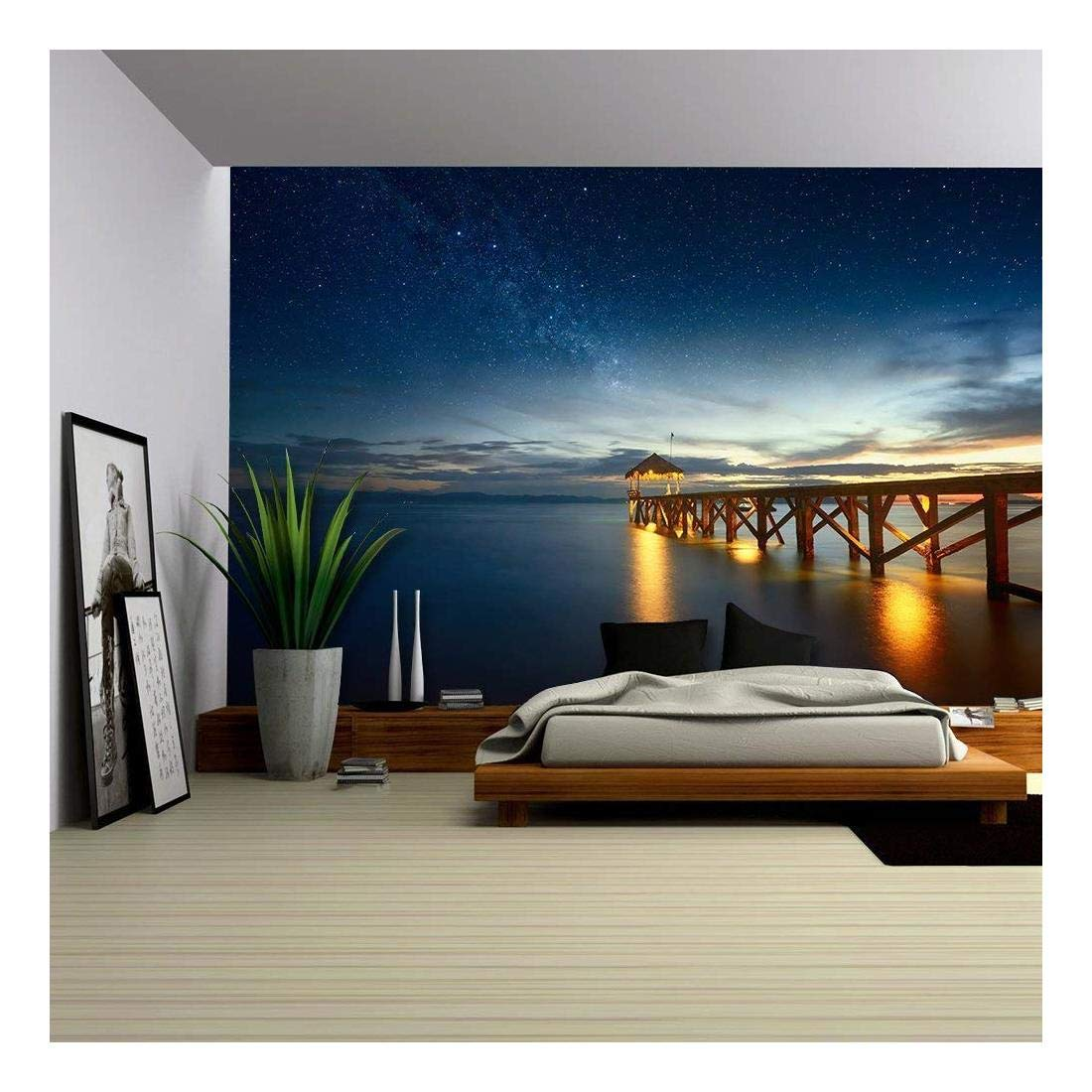 Wall26 Night Seascape View Wall Mural
