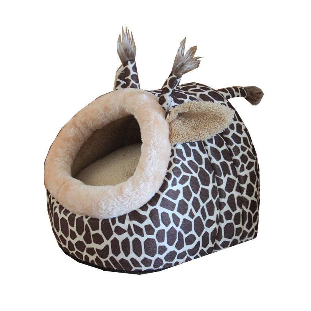 ANDRE Pet Supplies Cute Giraffe Shaped House Soft Pet Cushion Mat Hut for Puppy Cat