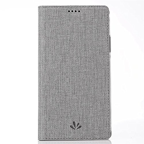 Sony Premium Cover Pocket - Sony Xperia XA2 Case,Premium Leather PU Flip Wallet Case Stand Kicstand Card Holder Magnetic Closure TPU Bumper Full Cover Slim Leather Case for Sony Xperia XA2 (Gray)
