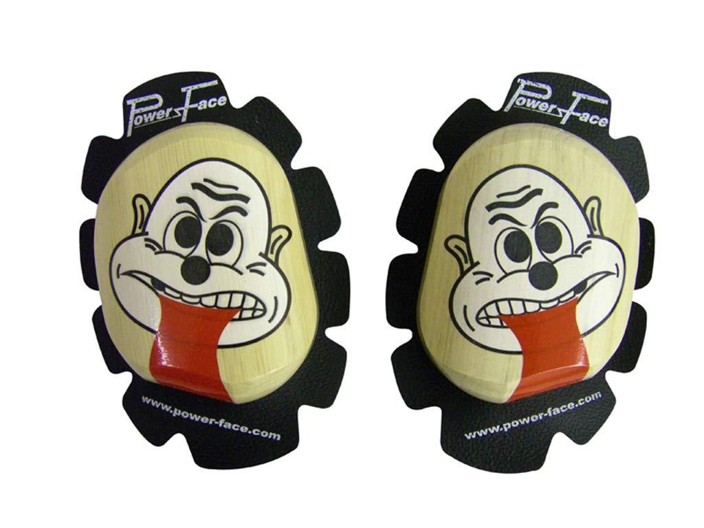 mit Aufdruck Gesicht und Zunge 2012 NEU woodkneesliders Zeidler 8800.01-07 Holzknieschleifer NEU 2012 *22mm STARK*
