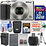 Nikon Coolpix A900 Camera (Silver) 32GB Card + Case + Battery/Charger + Tripod Kit (Certified Refurbished)