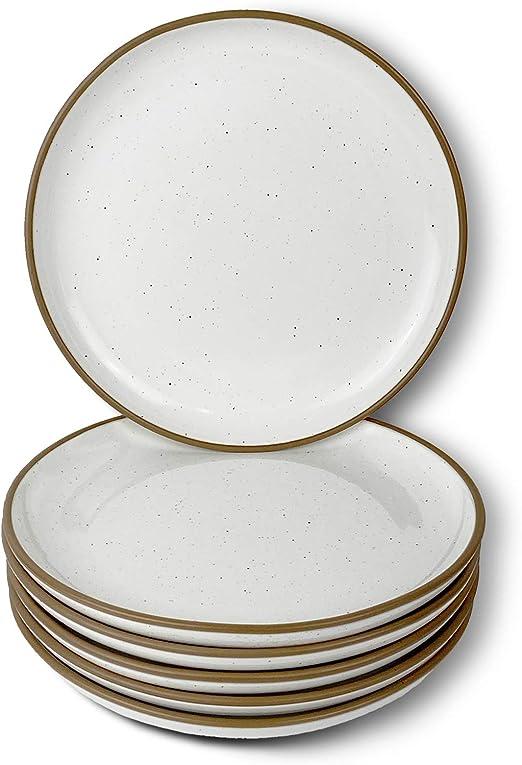 Dinner Plate Microwave 10 Inch Mora Ceramic Plates And Dishwasher Safe Modern Dinnerware Kitchen Serving Porcelain Dish Scratch Resistant Assorted Colors Set Of 6 Oven Dinnerware Dinner Plates