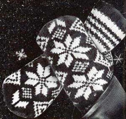 - MEN'S 2 NEEDLE NORWEGIAN MITTENS - A Vintage 1952 Knitting Pattern Download for the KINDLE Wireless eBook Reader! (e-book knit knitted Norway gloves yarn craft teens winter snow accessories)