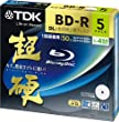 TDK Blu-ray BD-R DL Disk | Super Hard Coating Surface 50GB Blueray 4x Speed 5 Pack