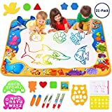 Toyk Aqua Magic Mat - Kids Painting Writing Doodle Board Toy - Color Doodle Drawing Mat Bring Magic Pens Educational Toys for Age 1 2 3 4 5 6 7 8 9 10 11 12 Year Old Girls Boys Age Toddler Gift